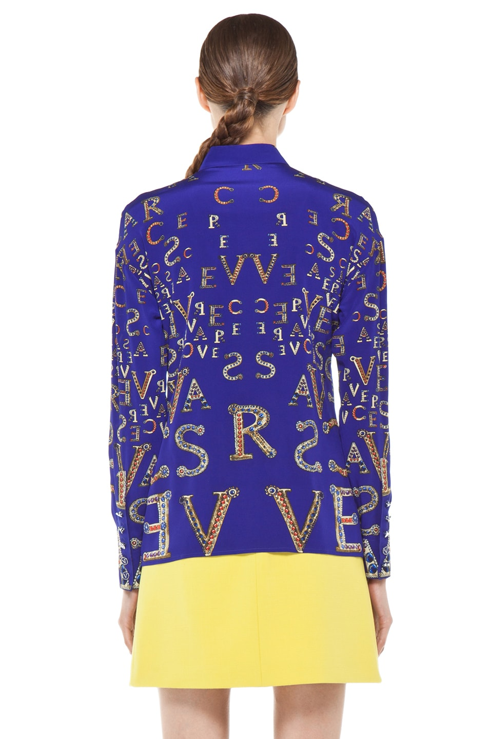 Image 5 of VERSACE Mono Blouse in Blue