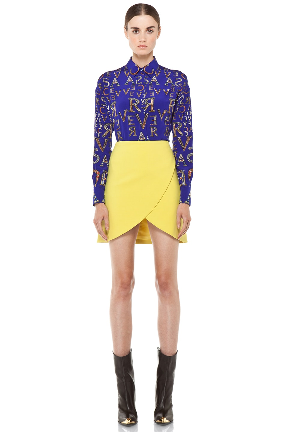 Image 6 of VERSACE Mono Blouse in Blue