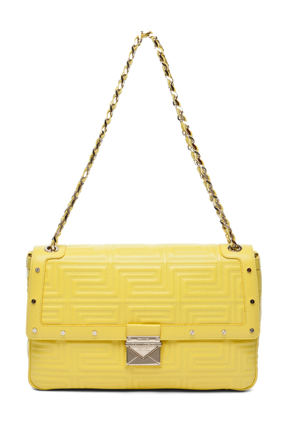 Image 1 of VERSACE Lamb Leather Handbag in Yellow