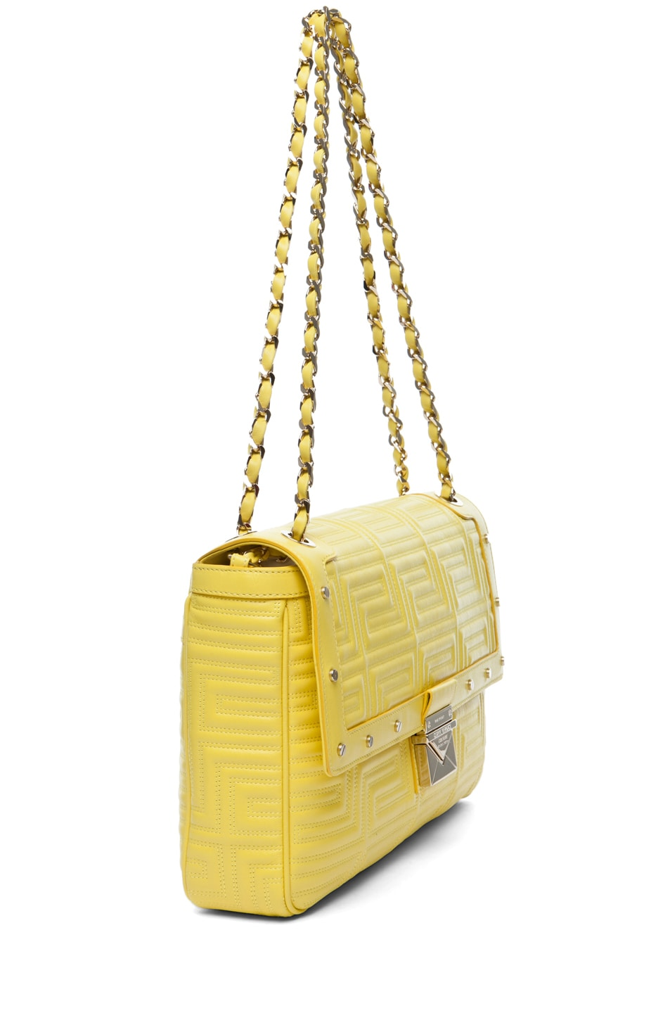 Image 3 of VERSACE Lamb Leather Handbag in Yellow