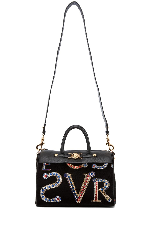 Image 5 of VERSACE Mono Velvet Handbag in Black