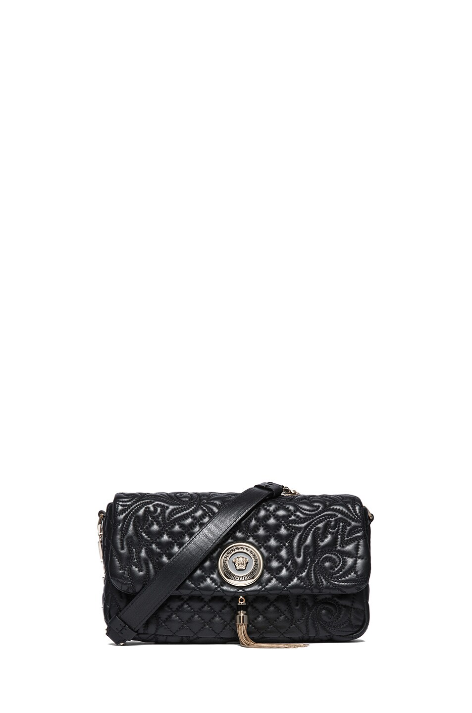 Image 1 of VERSACE Small Pendent Bag in Black