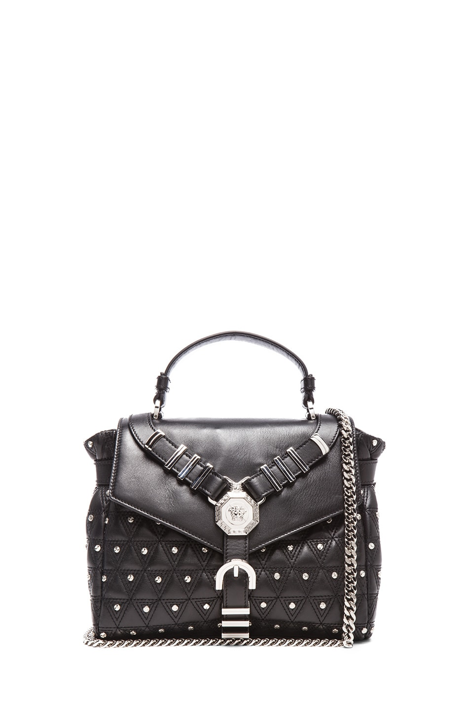 Image 1 of VERSACE Harness Satchel in Black