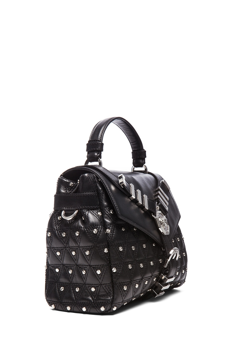 Image 3 of VERSACE Harness Satchel in Black