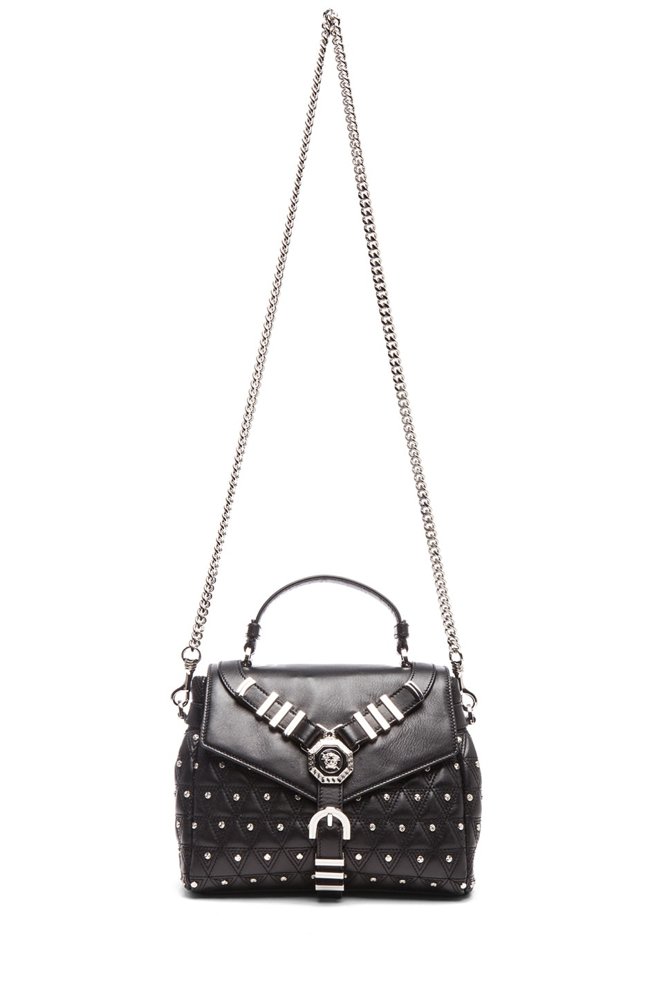 Image 5 of VERSACE Harness Satchel in Black