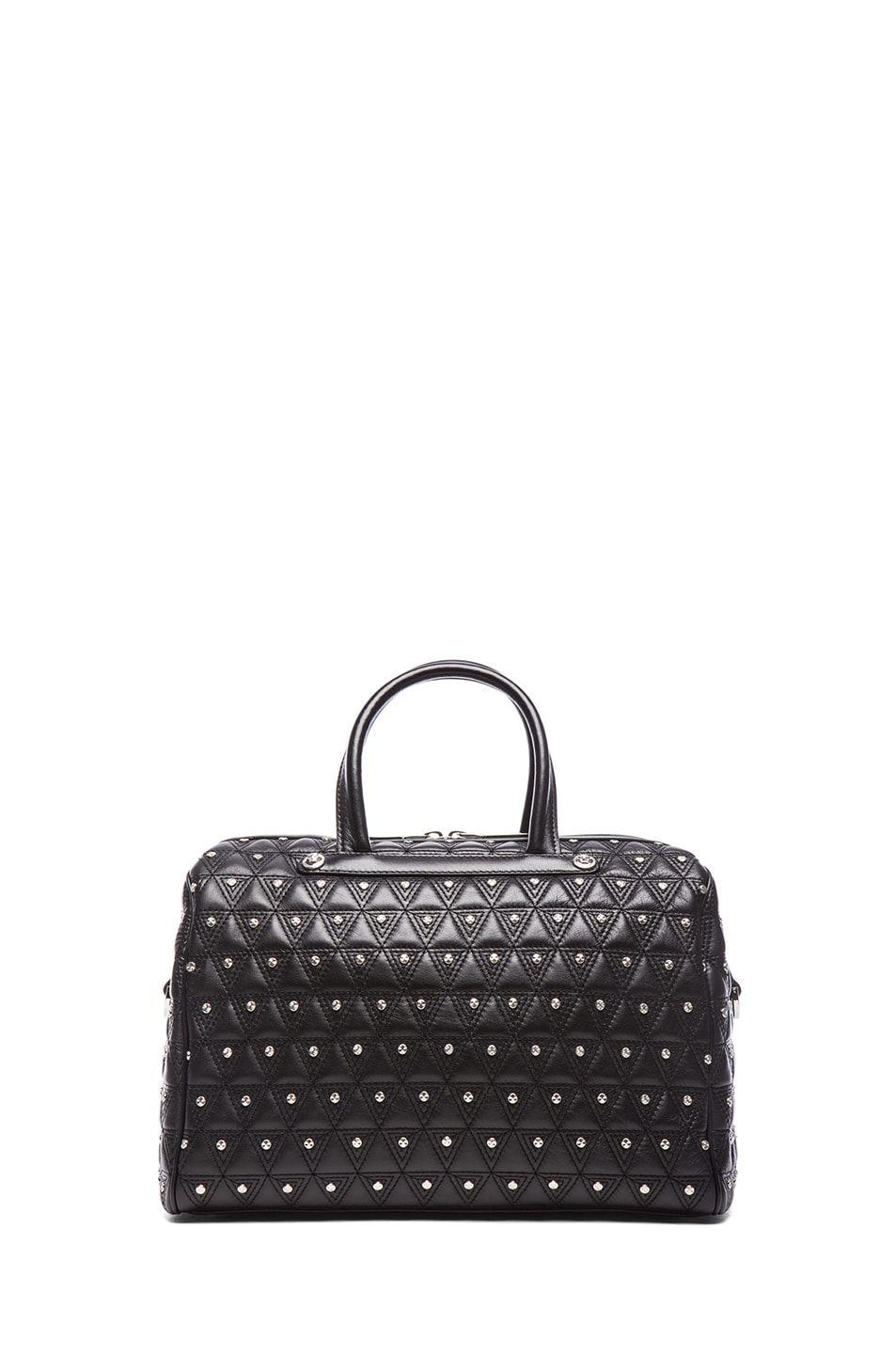 Image 2 of VERSACE Leather Studded Tote with Strap in Black