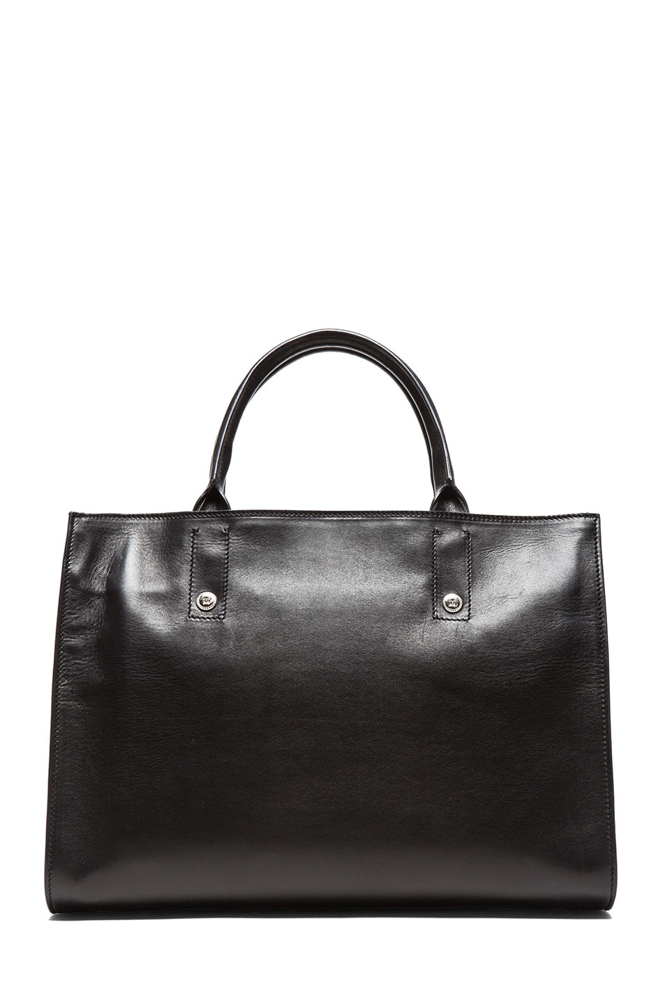 Image 2 of VERSACE Tote in Black & Silver