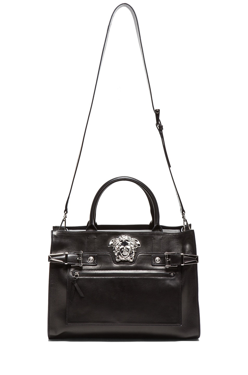 Image 5 of VERSACE Tote in Black & Silver
