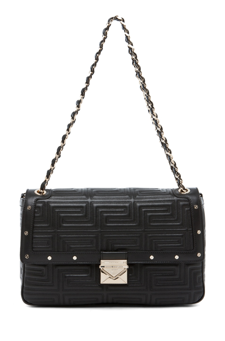 Image 1 of VERSACE Lamb Leather Handbag in Black