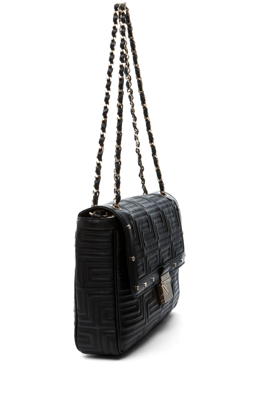 Image 3 of VERSACE Lamb Leather Handbag in Black