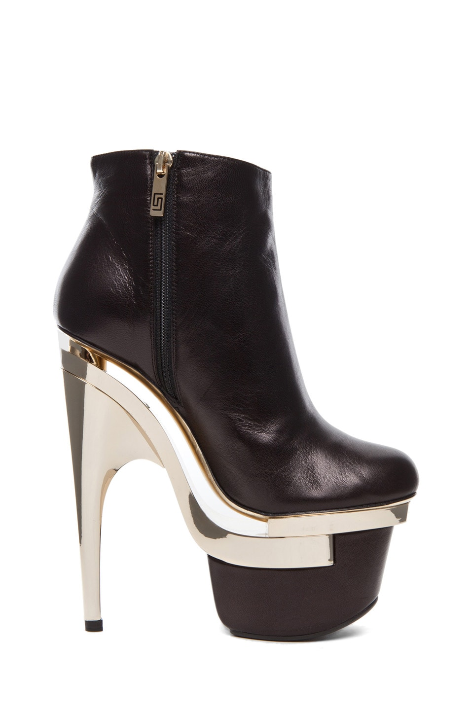 Image 5 of VERSACE Platform Bootie in Black