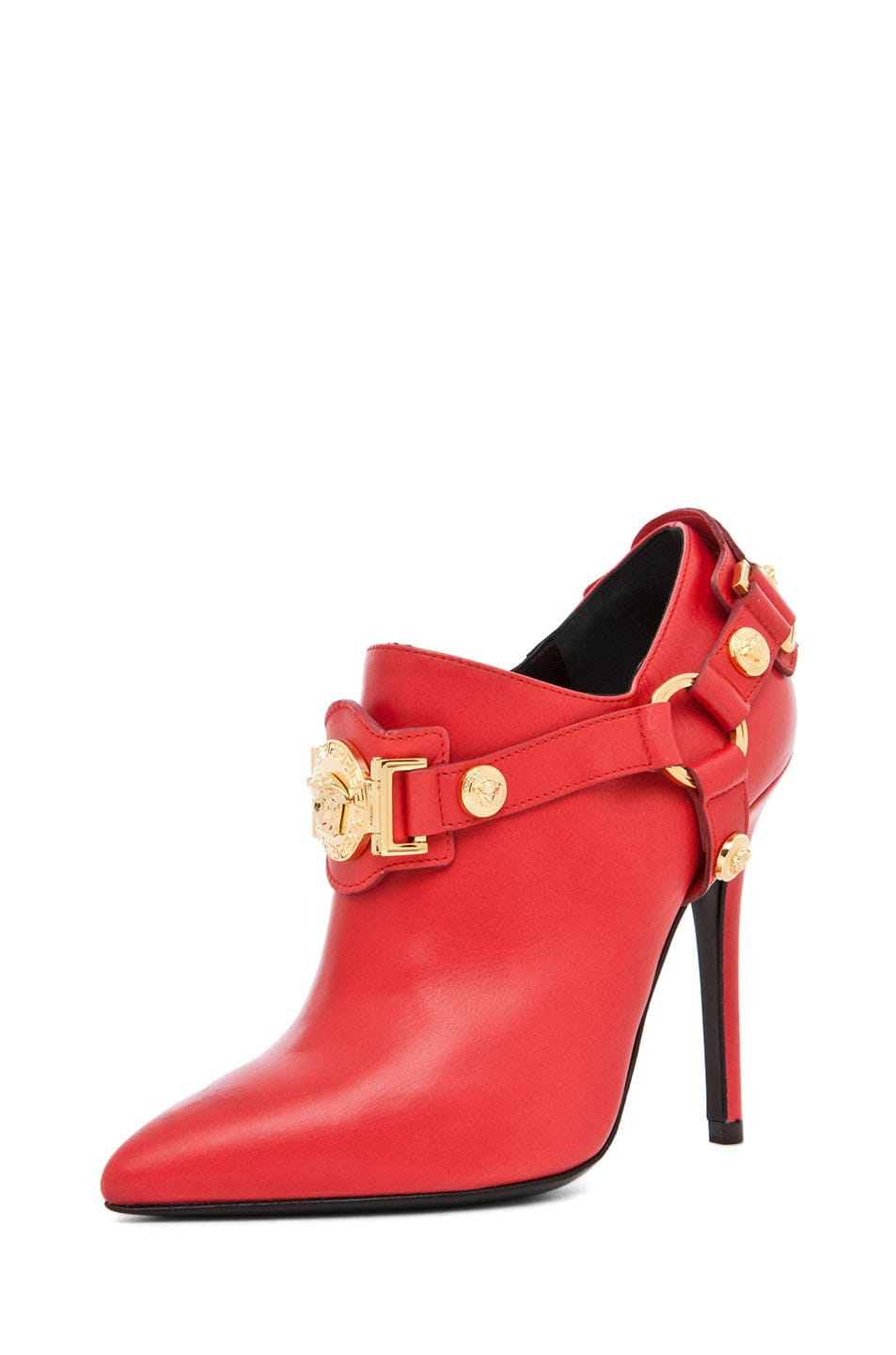 Image 2 of VERSACE Harness Bootie in Red