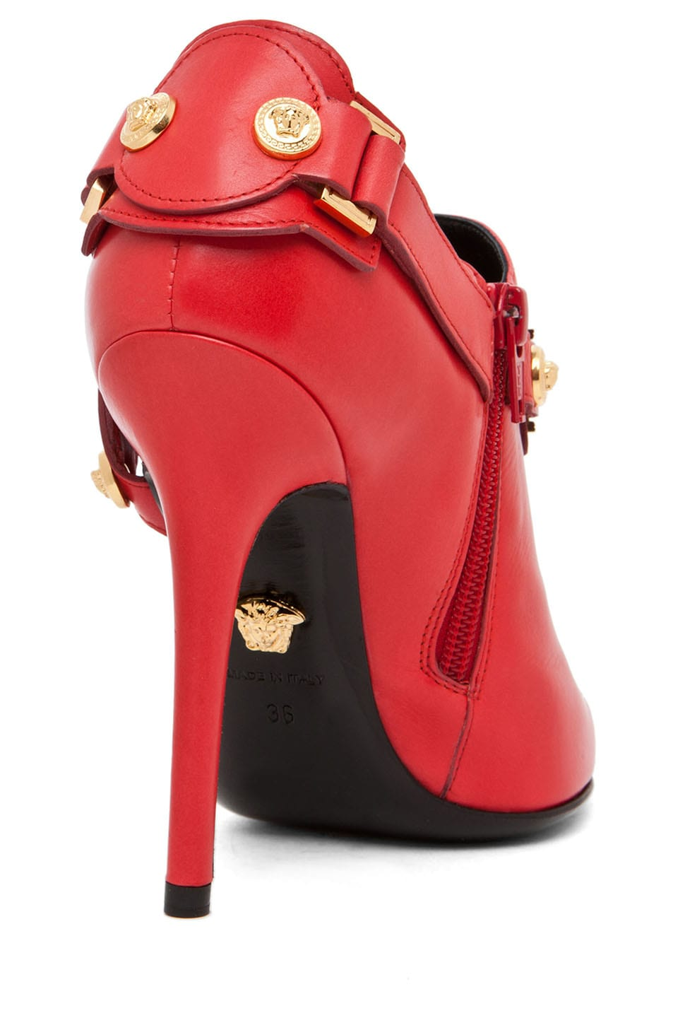 Image 3 of VERSACE Harness Bootie in Red
