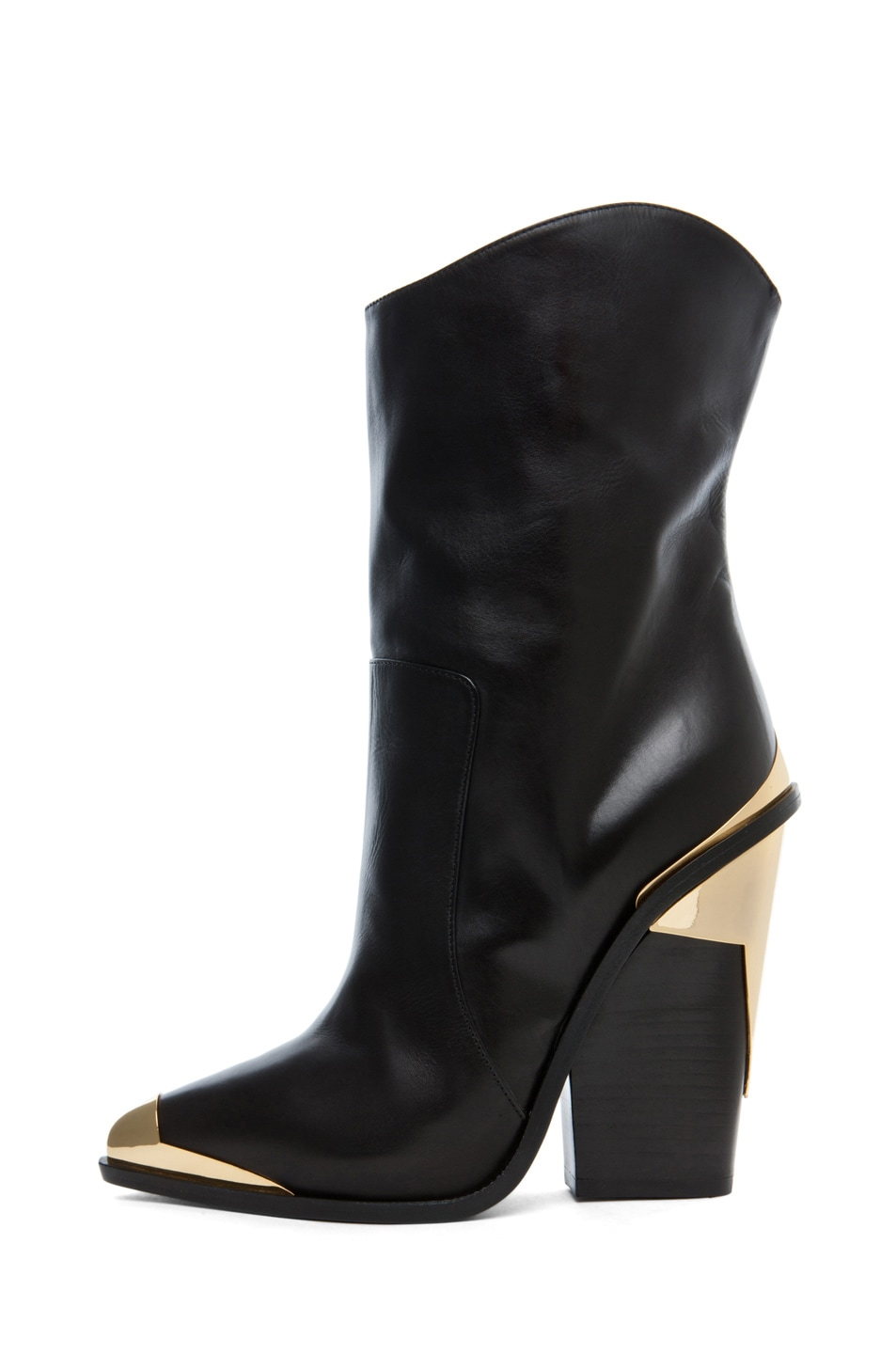 Image 1 of VERSACE Booties in Black