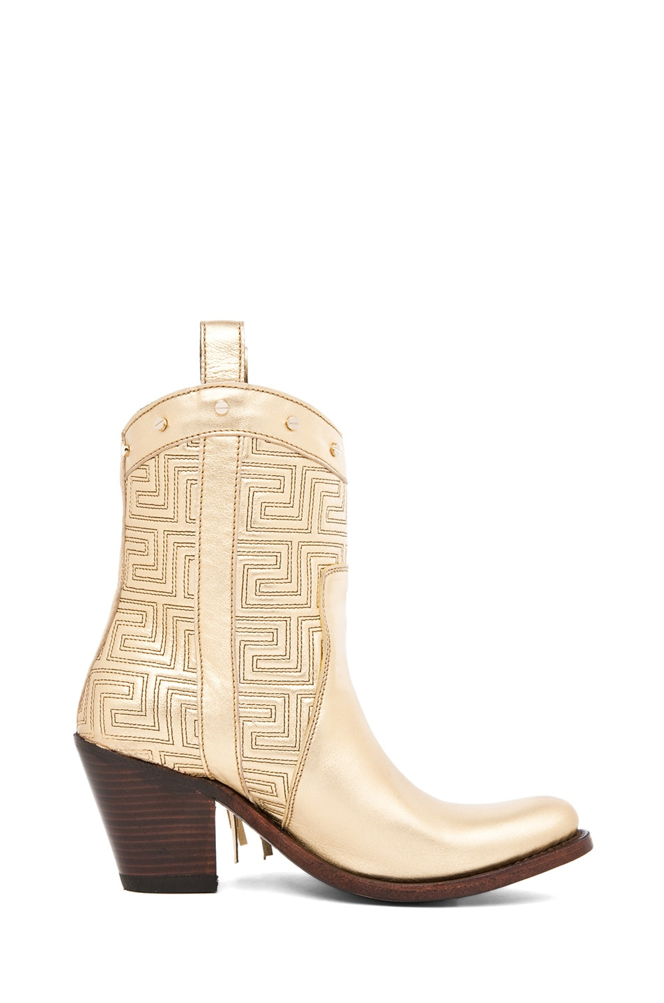 Image 5 of VERSACE Fringe Cowboy Boot in Gold