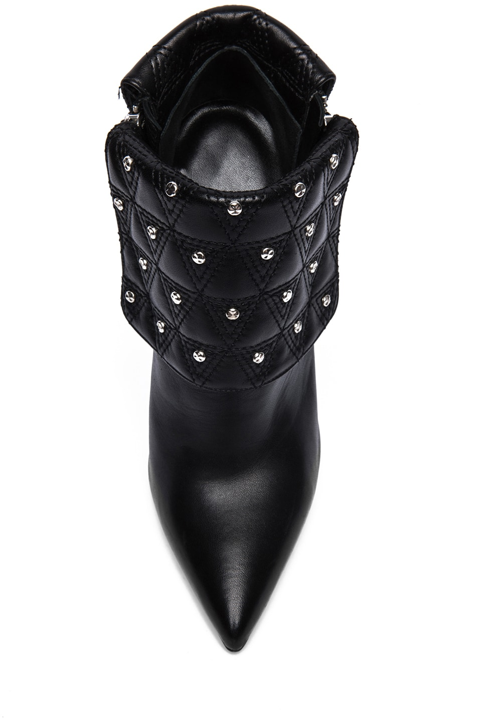 Image 4 of VERSACE Leather Ankle Booties in Black