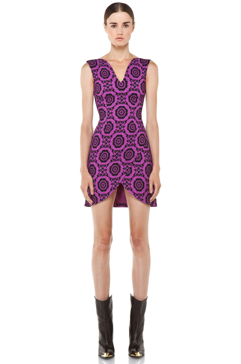 Image 1 of Versus Printed Tank Dress in Fuxia