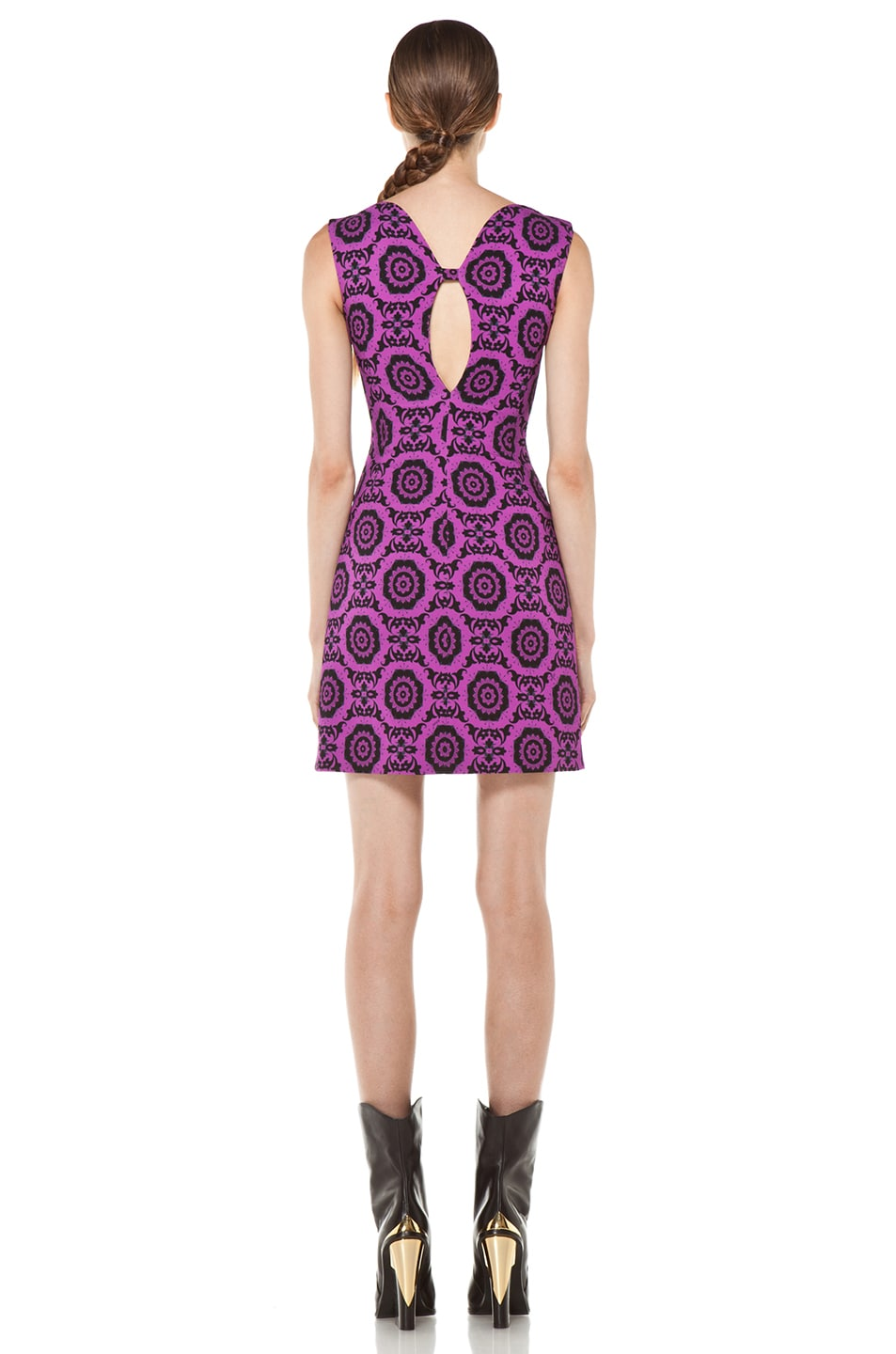 Image 4 of Versus Printed Tank Dress in Fuxia