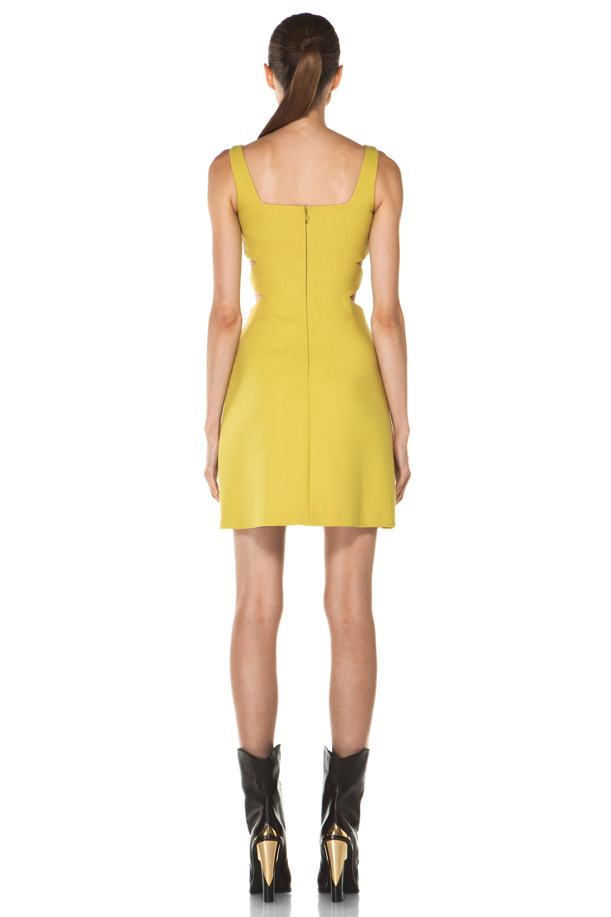 Image 4 of Versus Cut Out Tank Dress in Citron