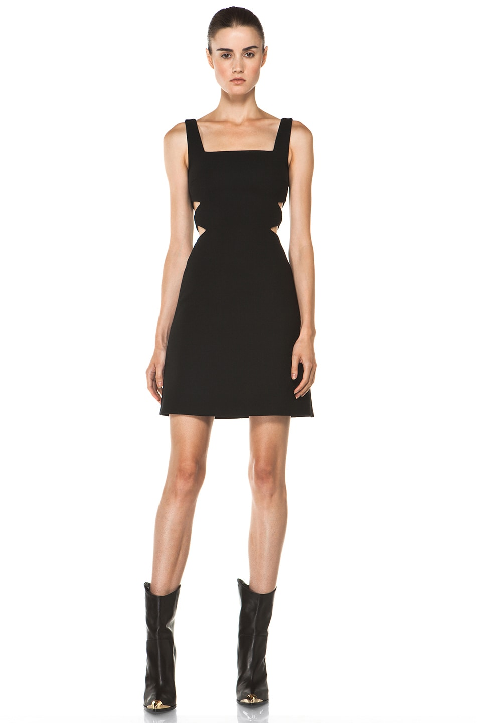 Image 1 of Versus Cut Out Tank Dress in Black