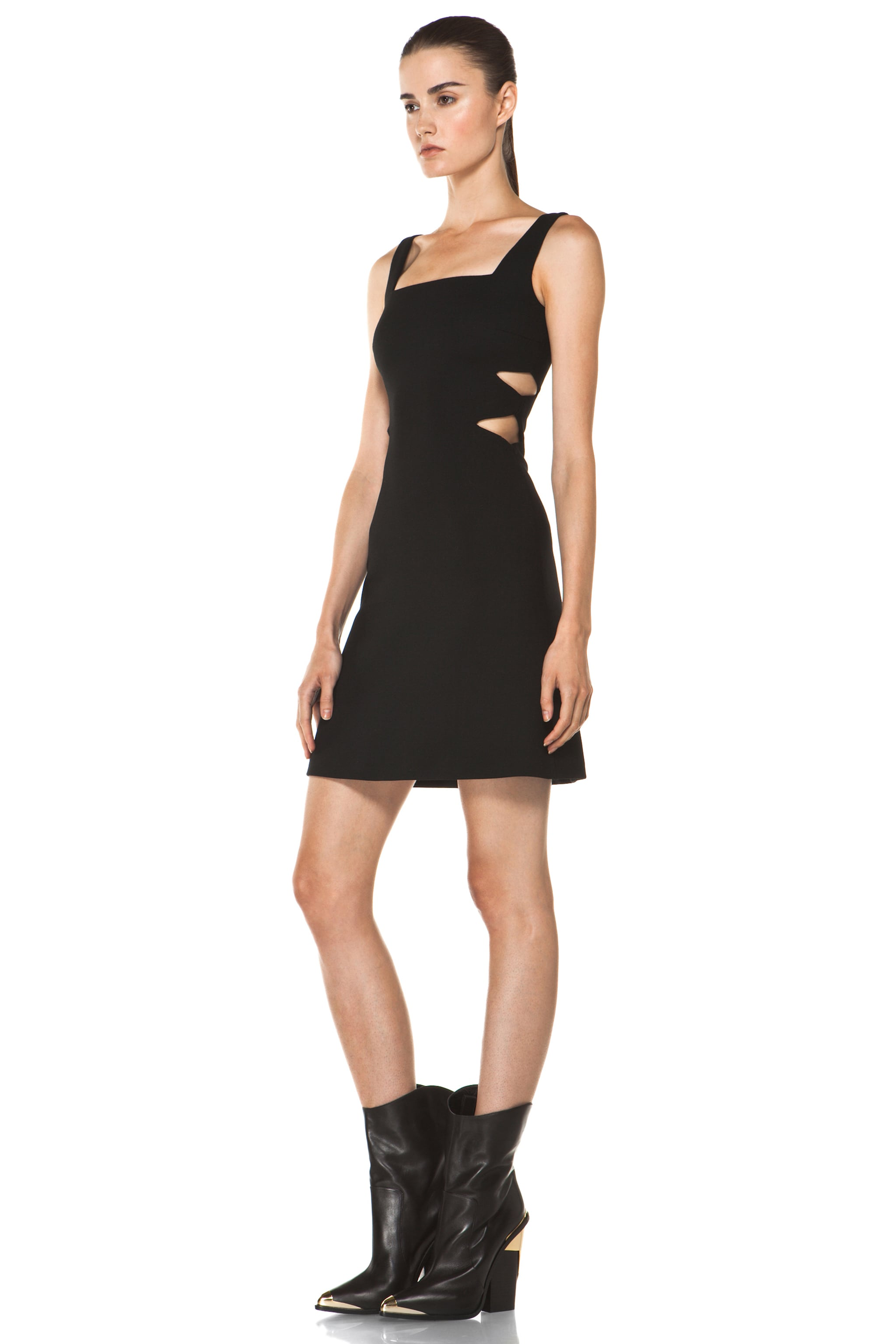 Image 2 of Versus Cut Out Tank Dress in Black