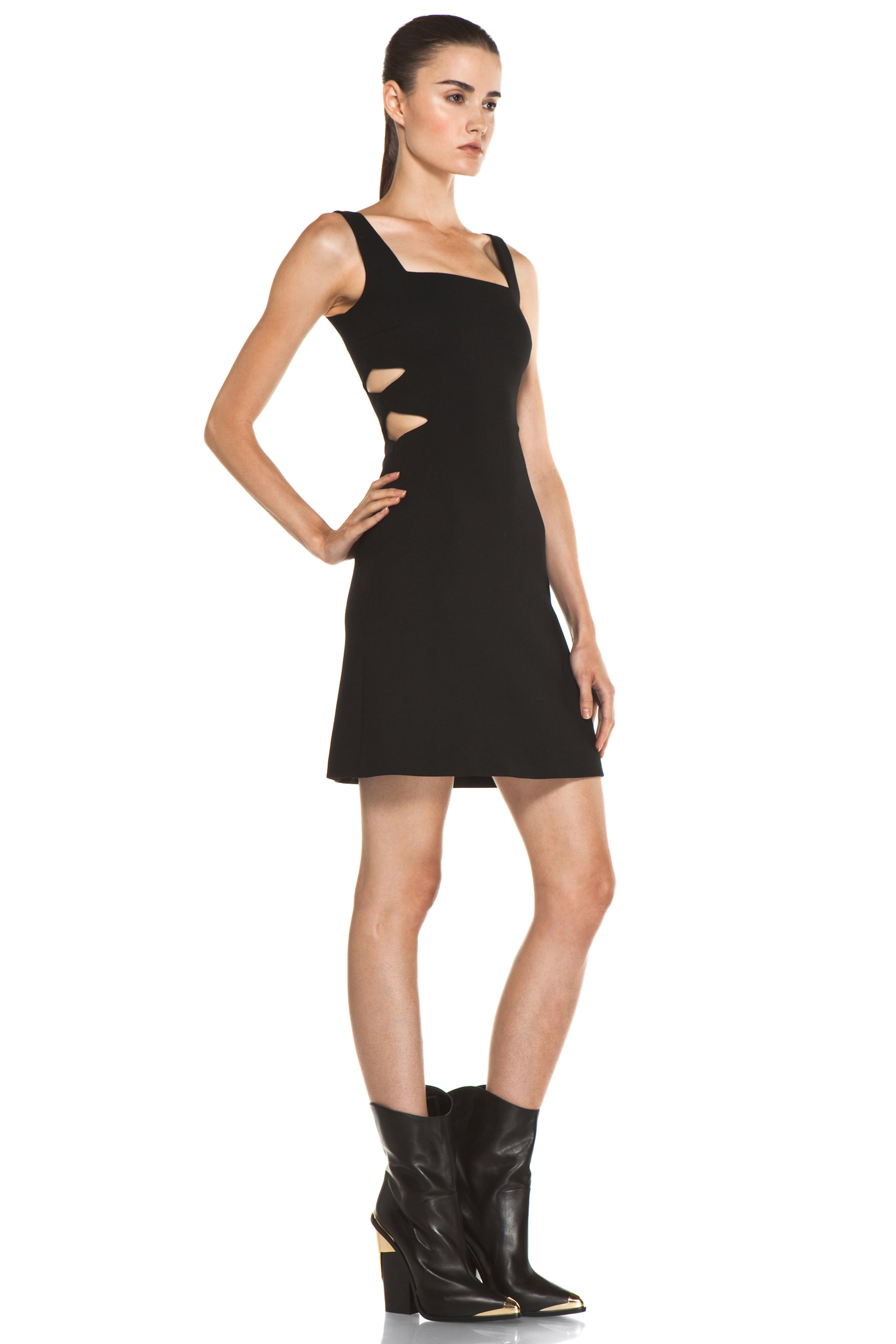 Image 3 of Versus Cut Out Tank Dress in Black