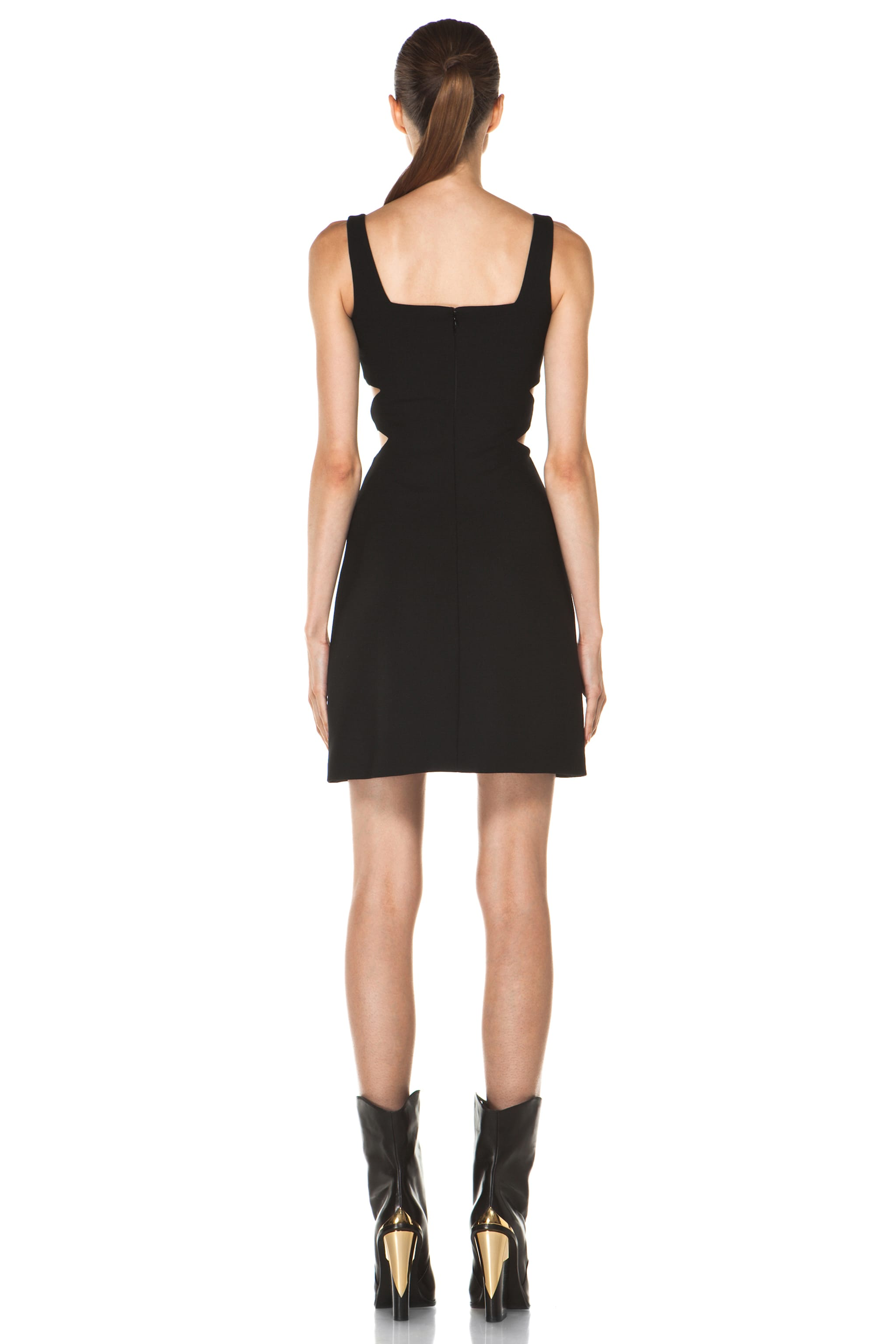 Image 4 of Versus Cut Out Tank Dress in Black