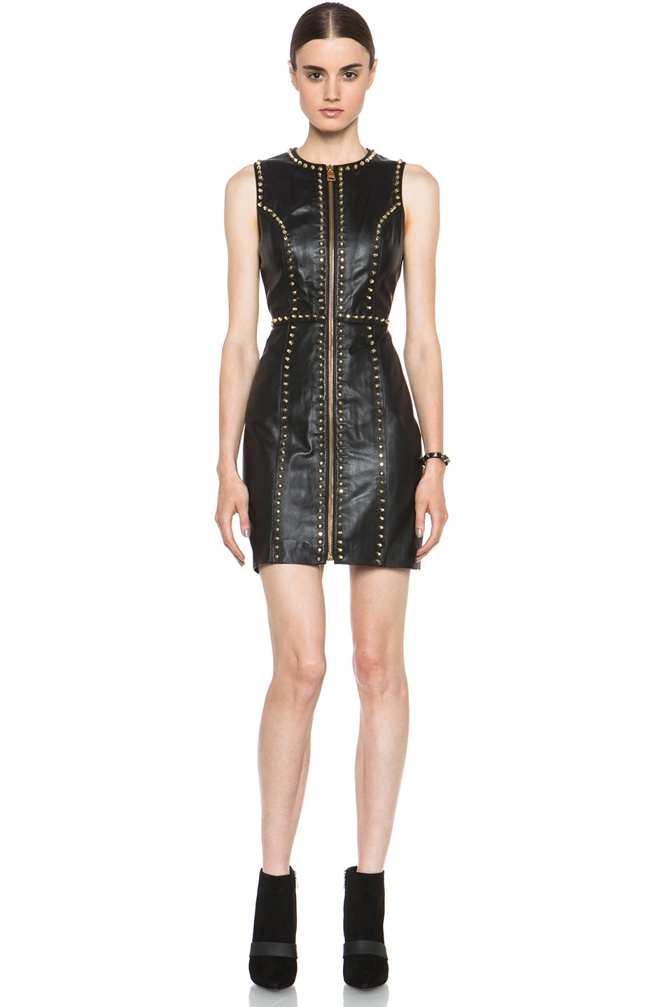 Image 1 of Versus Leather Dress in Black