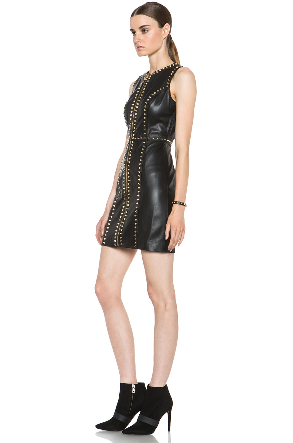 Image 2 of Versus Leather Dress in Black