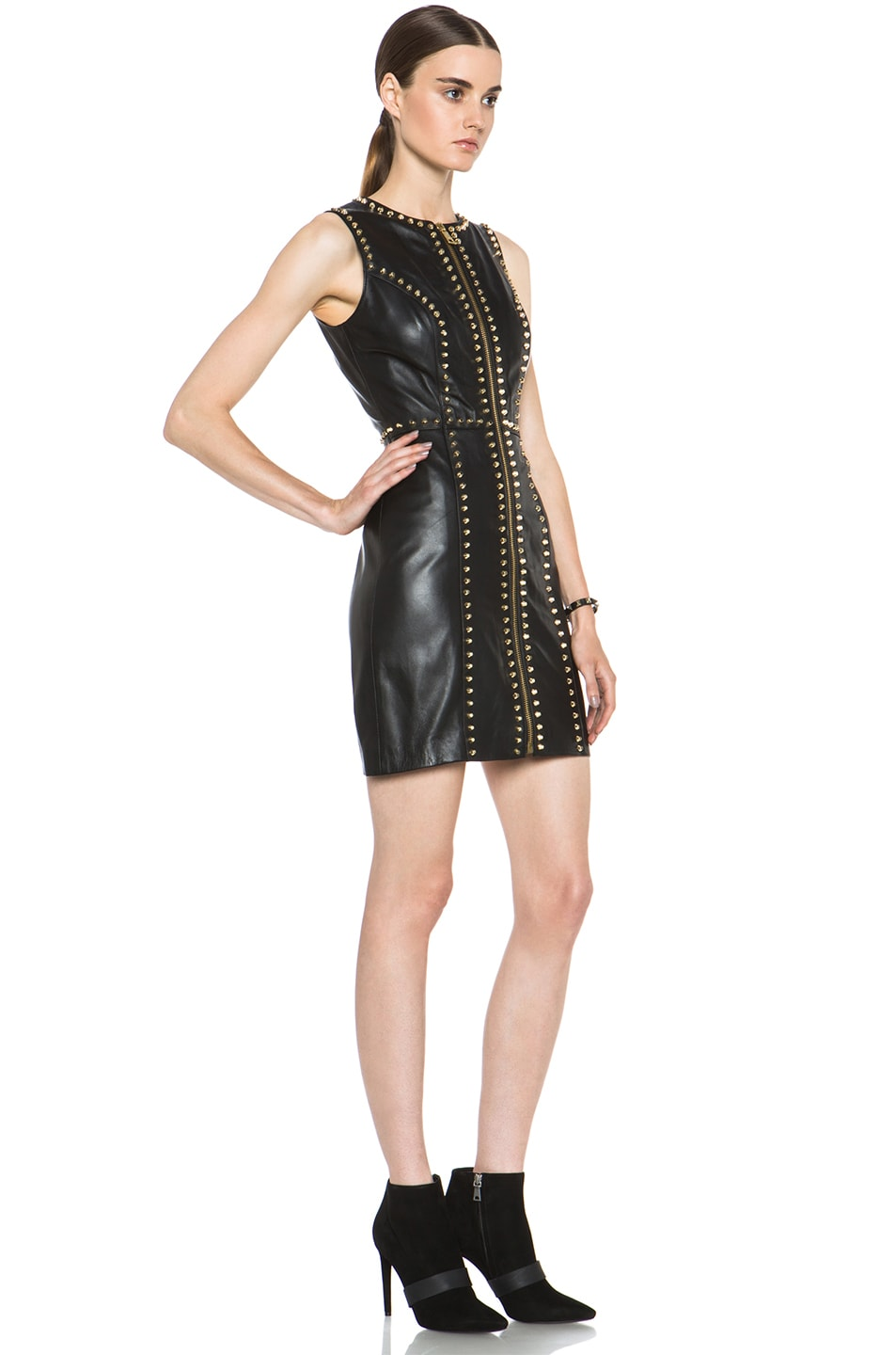 Image 3 of Versus Leather Dress in Black