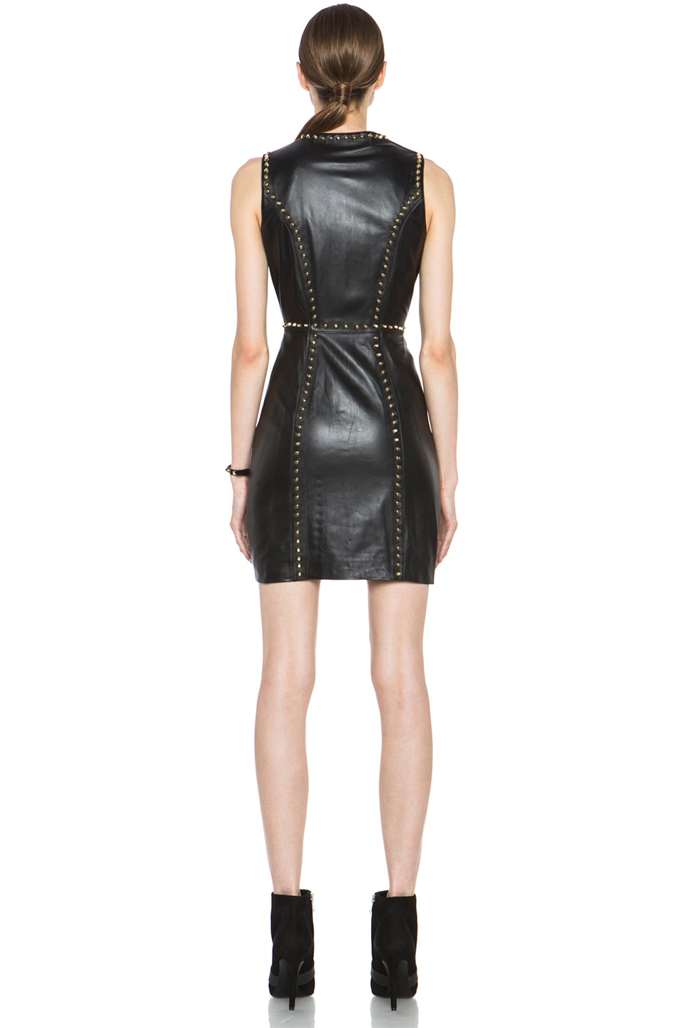 Image 4 of Versus Leather Dress in Black