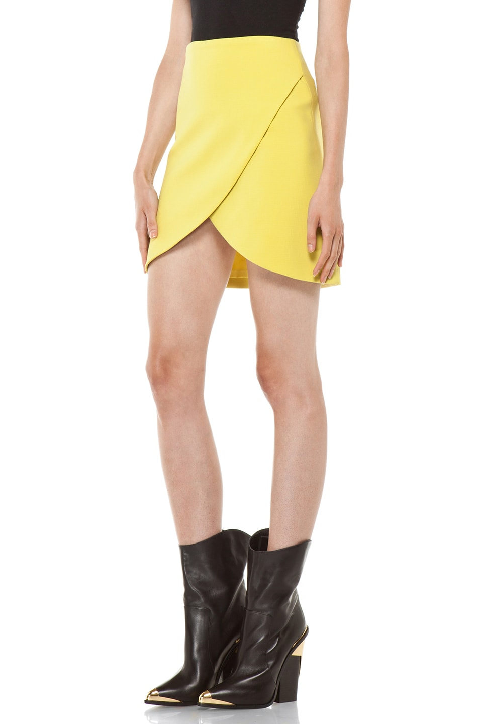 Image 2 of Versus Crossover Skirt in Citron