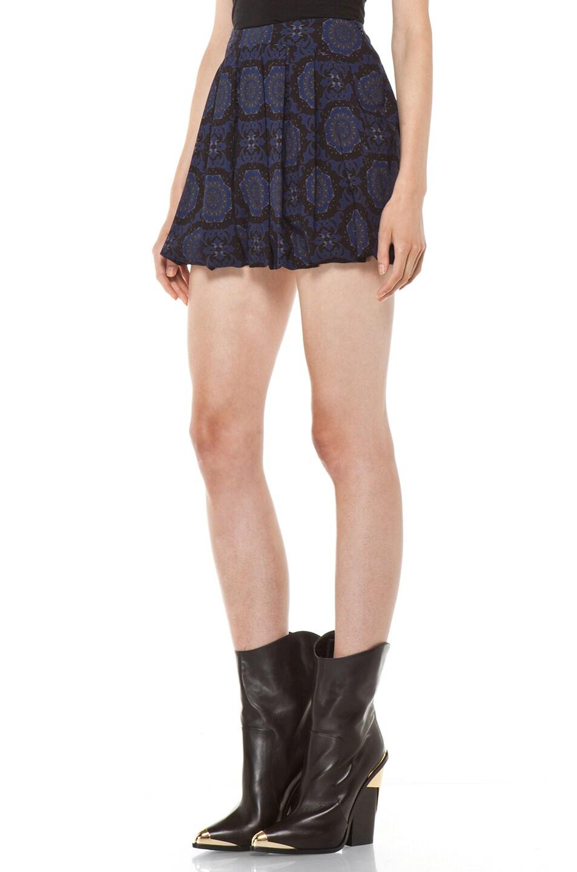 Image 2 of Versus Pleated Mini Skirt in Midnight