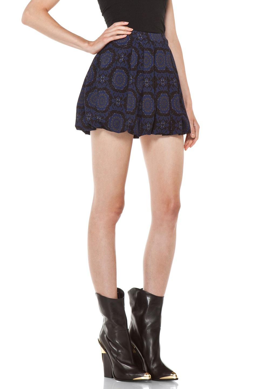 Image 3 of Versus Pleated Mini Skirt in Midnight