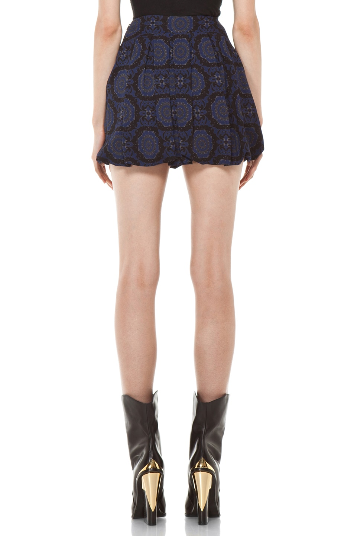 Image 4 of Versus Pleated Mini Skirt in Midnight