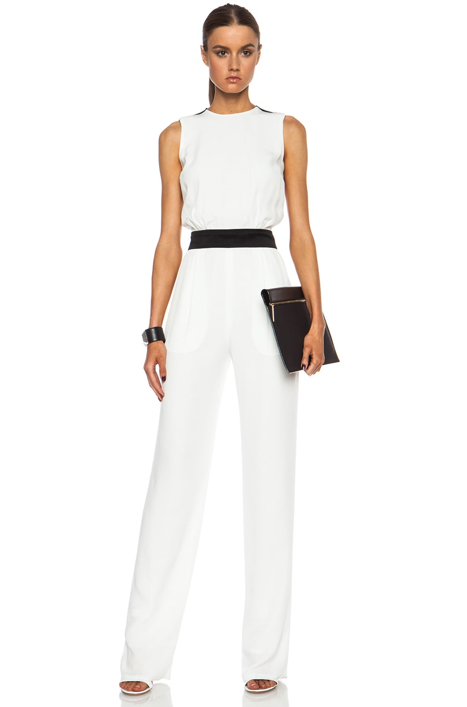 Beckham White Suit Pant Suit in Off White