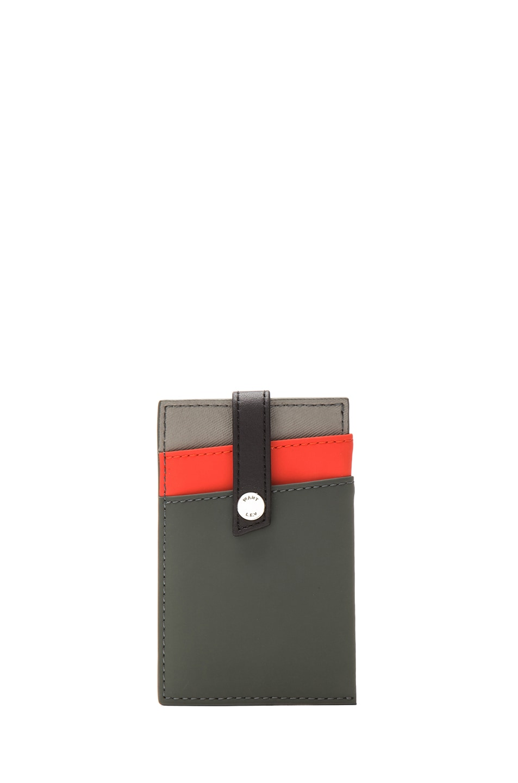 Image 2 of Want Les Essentiels De La Vie Kennedy Leather Money Clip Wallet in Baltic Grey