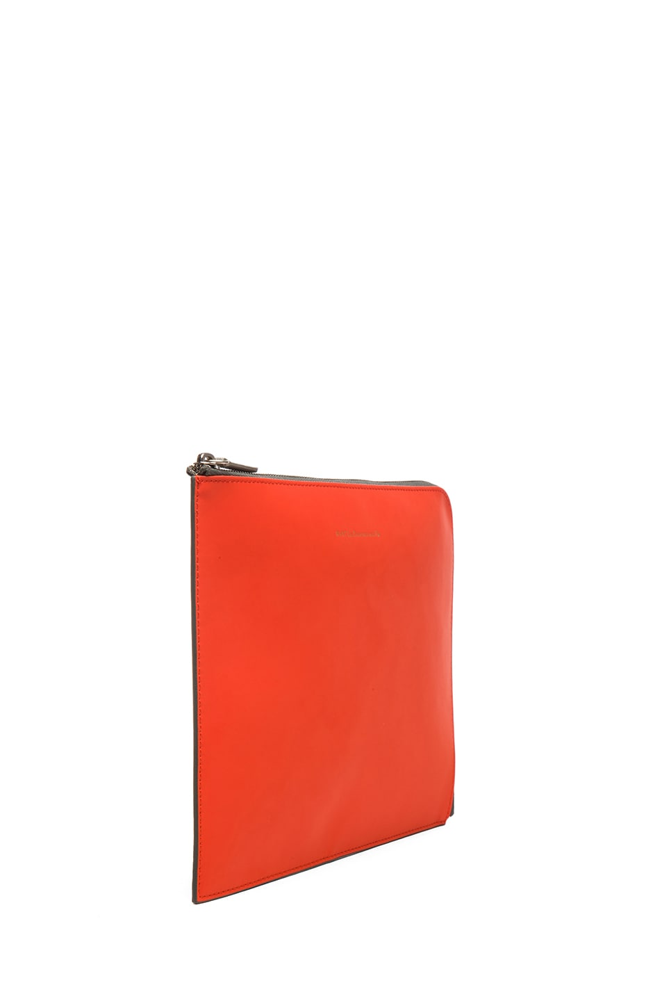 Image 3 of Want Les Essentiels De La Vie Medium Sky Harbo Leather Zip Pouch in Molten Orange