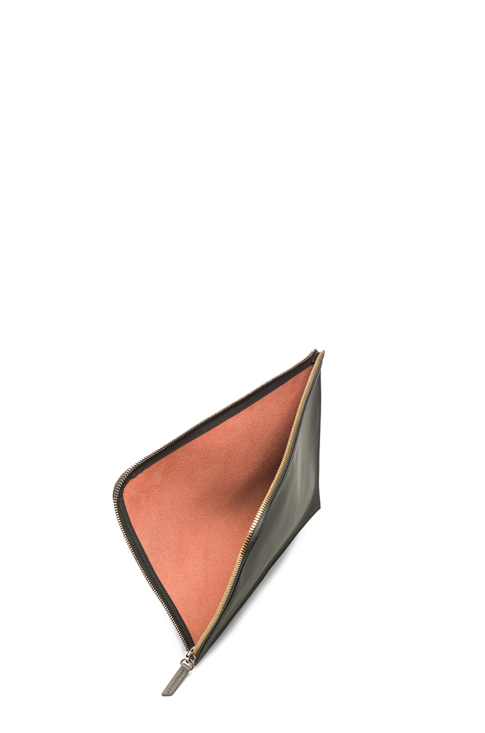 Image 4 of Want Les Essentiels De La Vie Medium Sky Harbo Leather Zip Pouch in Molten Orange