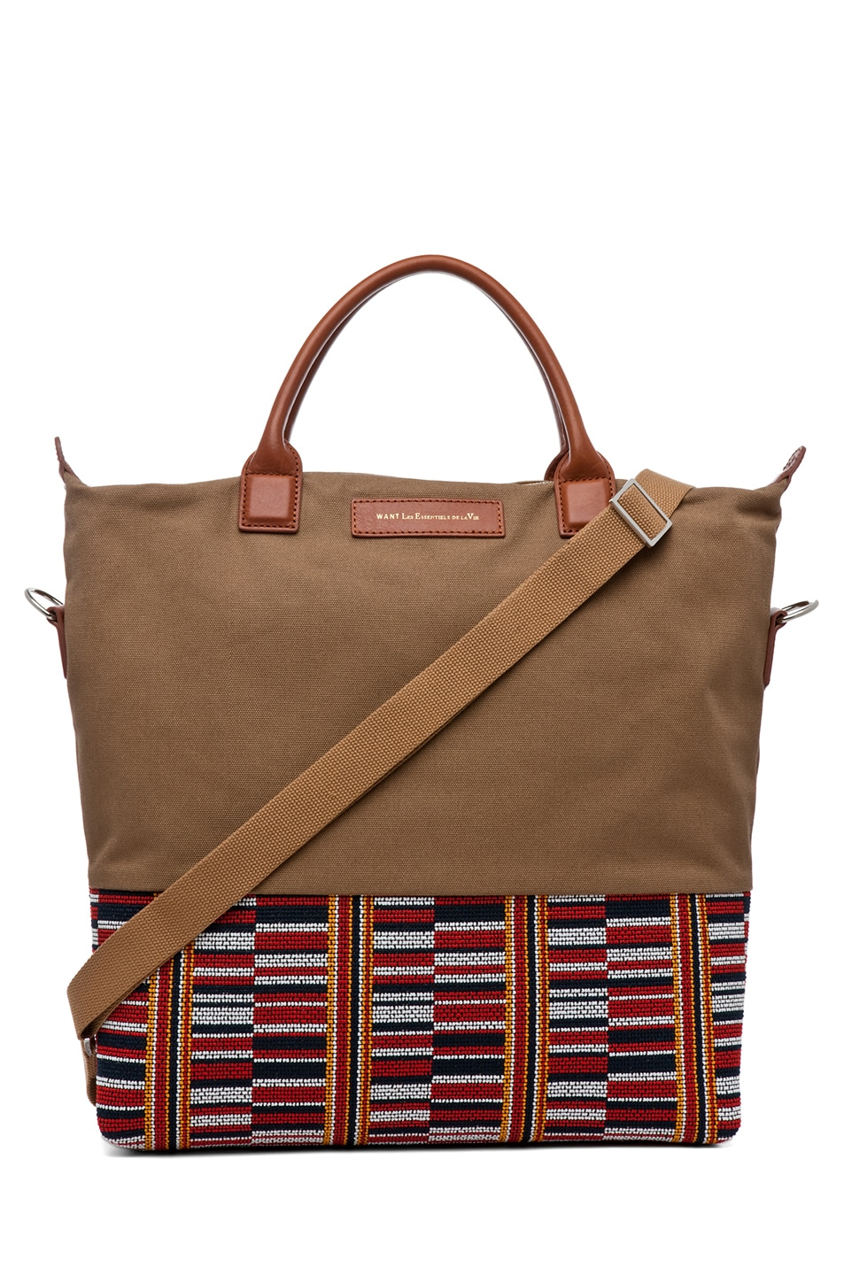 Image 1 of Want Les Essentiels De La Vie O'Hare Shopper Tote in Beige Frise