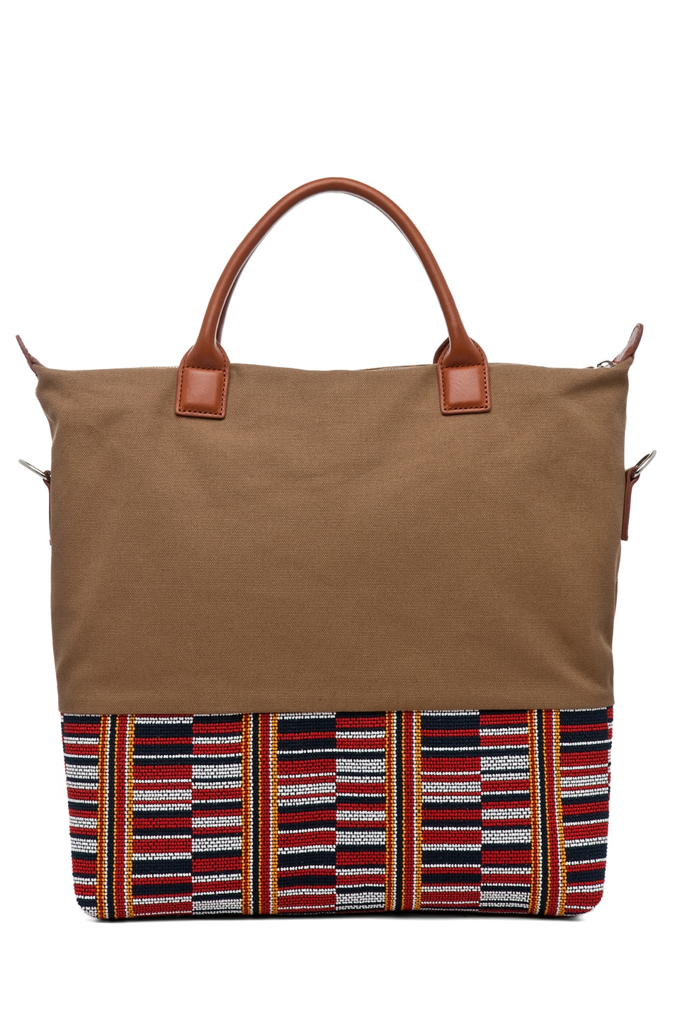 Image 2 of Want Les Essentiels De La Vie O'Hare Shopper Tote in Beige Frise