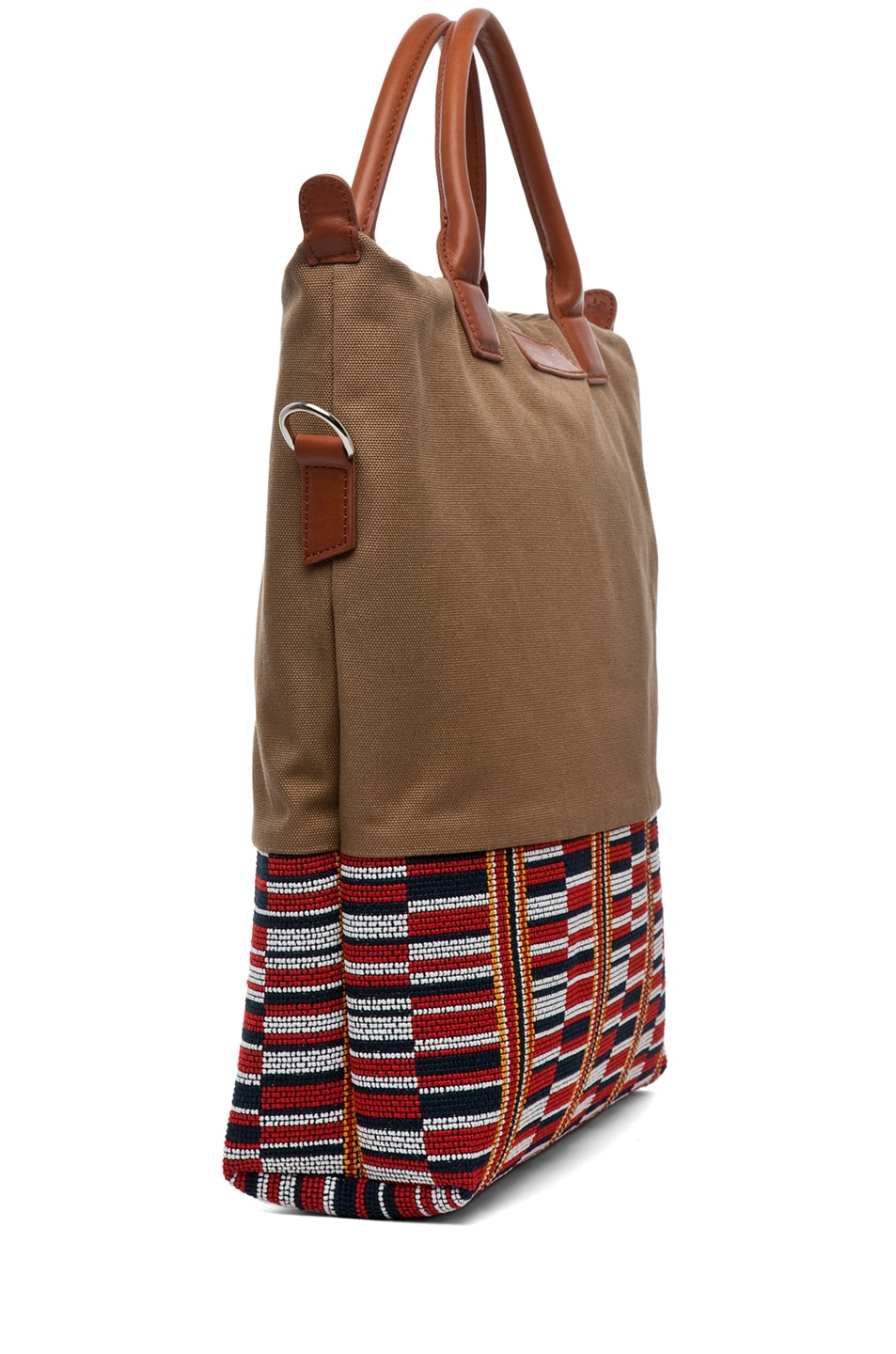 Image 3 of Want Les Essentiels De La Vie O'Hare Shopper Tote in Beige Frise