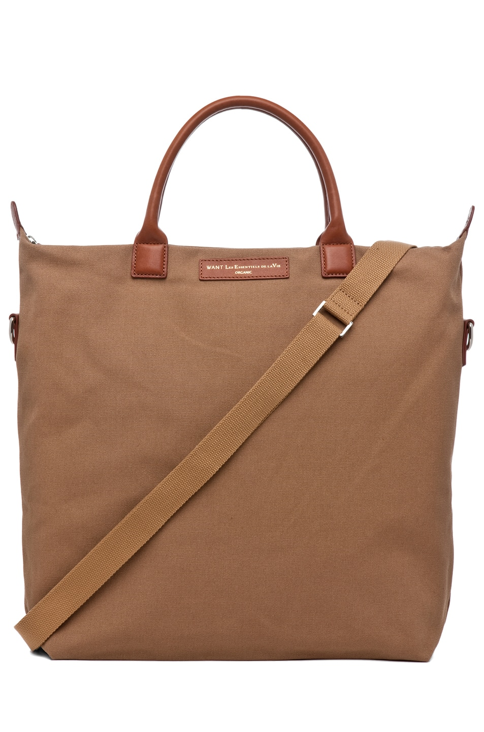 Image 1 of Want Les Essentiels De La Vie O'Hare Shopper Tote in Beige & Cognac