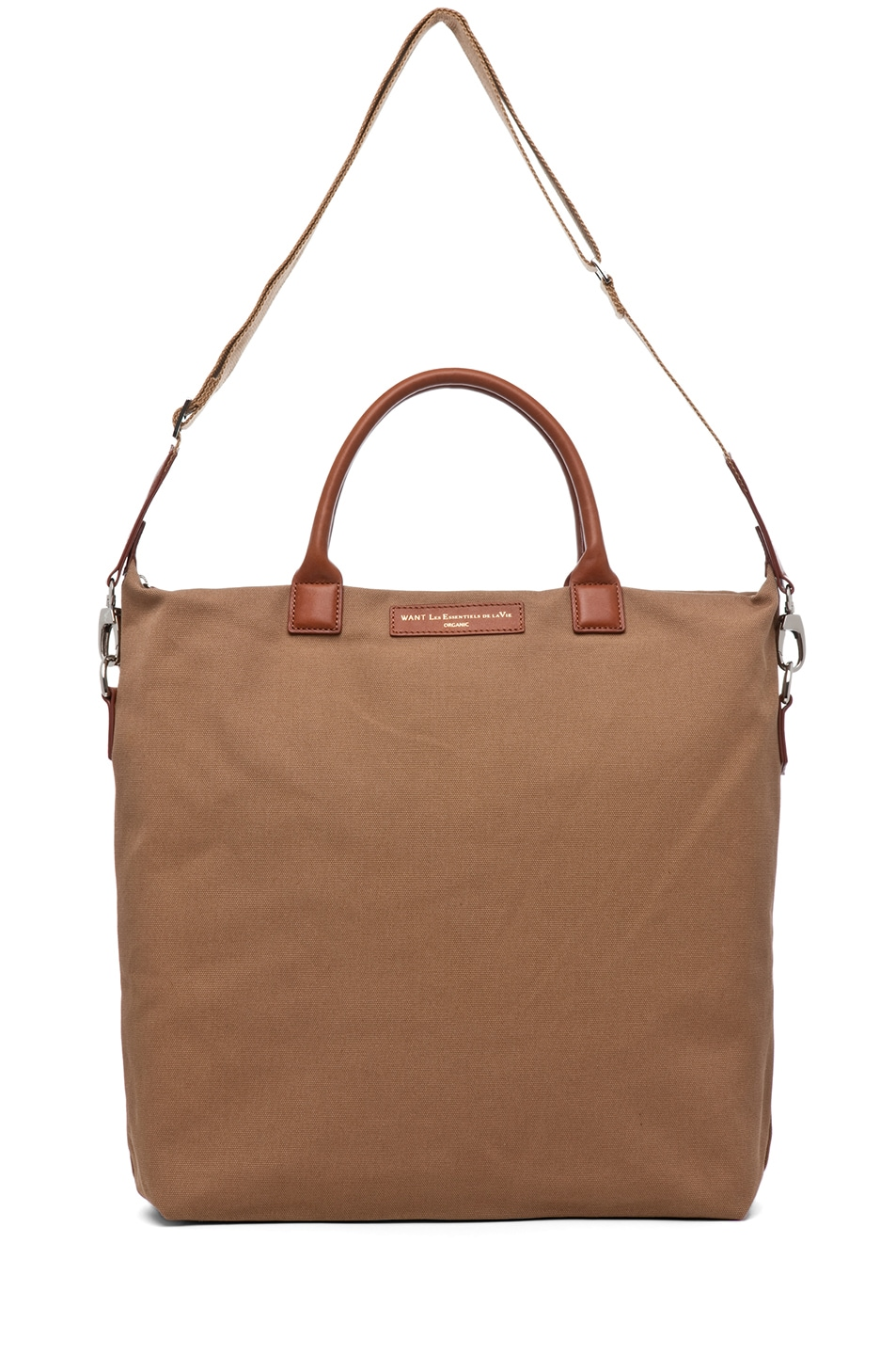 Image 5 of Want Les Essentiels De La Vie O'Hare Shopper Tote in Beige & Cognac