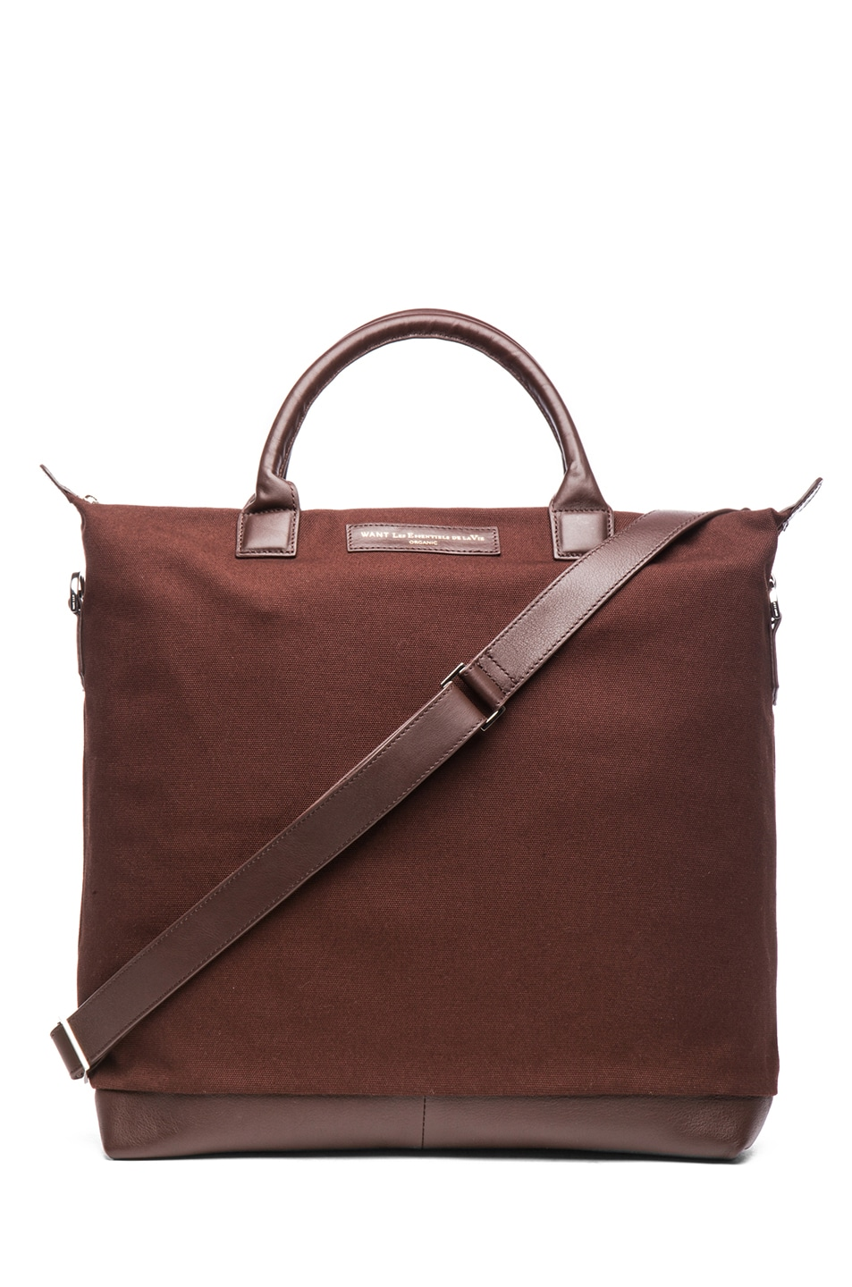 Image 1 of Want Les Essentiels De La Vie O'Hare Cotton Shopper Tote in Mountain & Cocoa