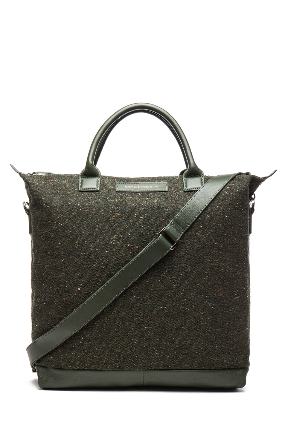 Image 1 of Want Les Essentiels De La Vie O'Hare Shopper Tote in Spruce Fire & Moss