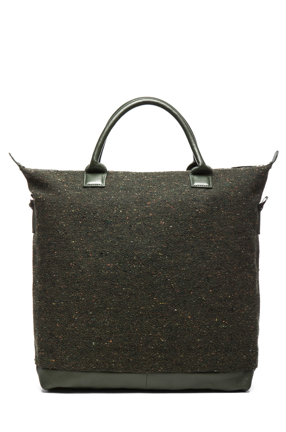 Image 2 of Want Les Essentiels De La Vie O'Hare Shopper Tote in Spruce Fire & Moss
