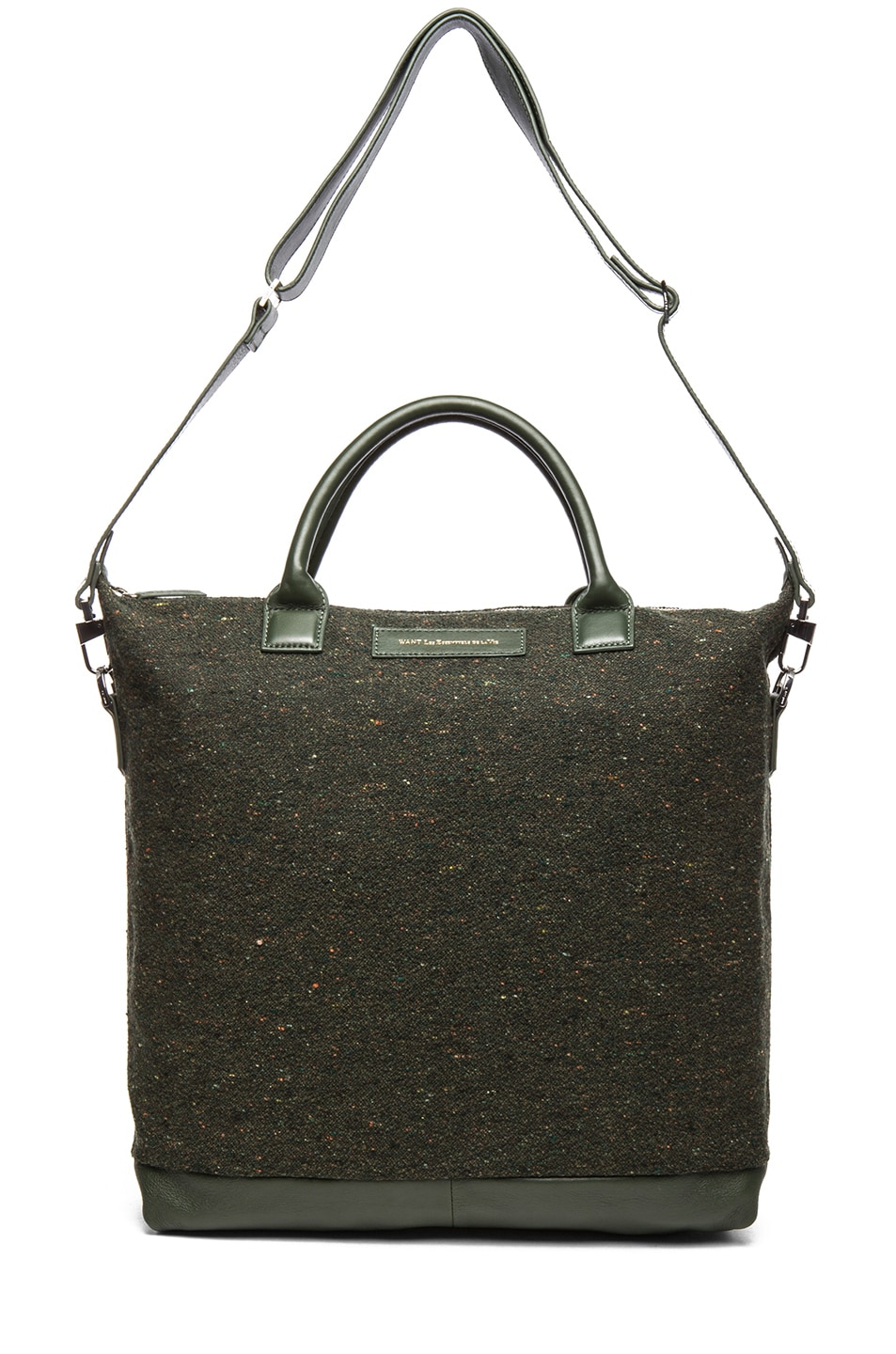 Image 5 of Want Les Essentiels De La Vie O'Hare Shopper Tote in Spruce Fire & Moss