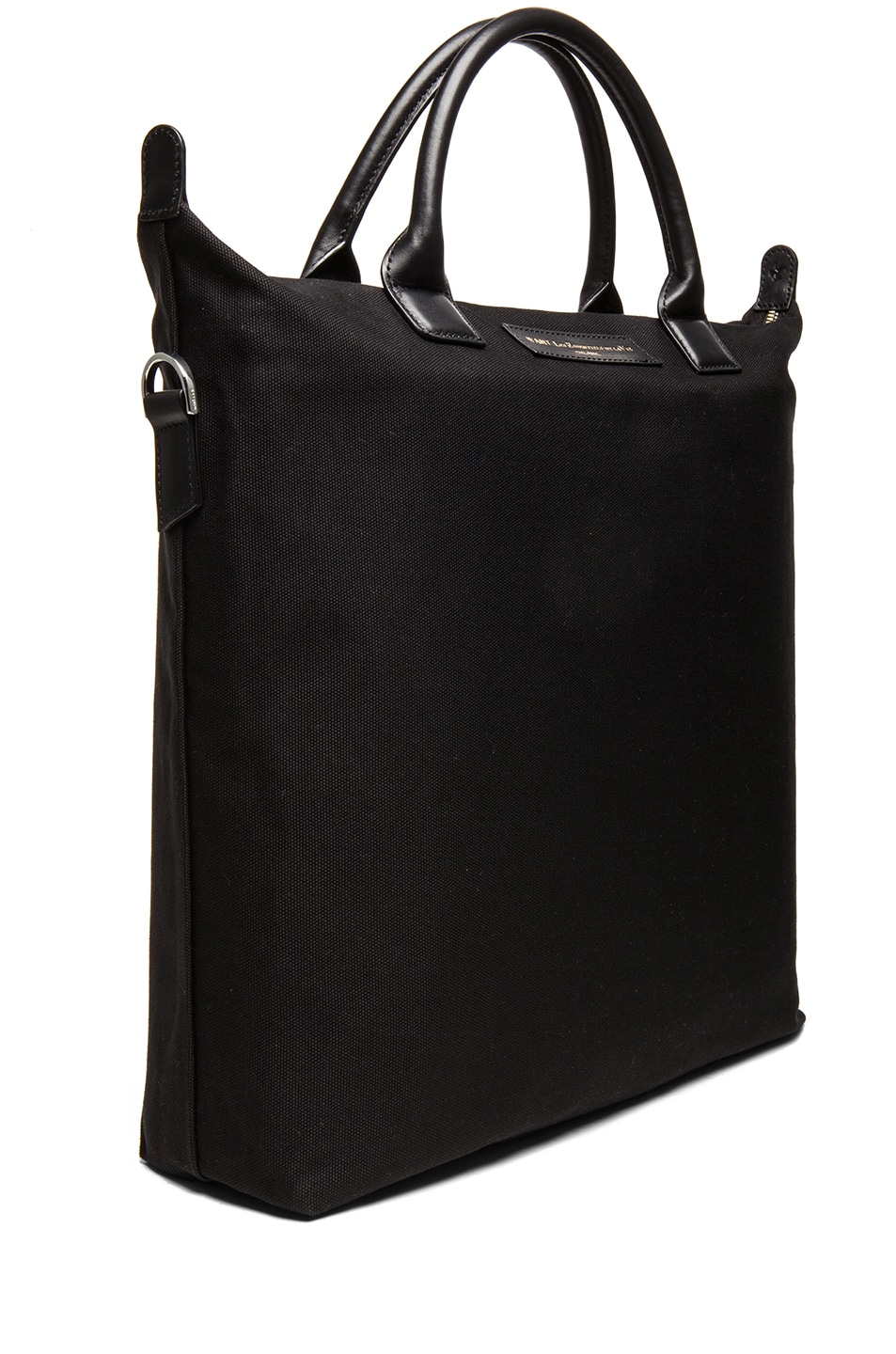 Image 3 of Want Les Essentiels De La Vie O'Hare Cotton Shopper Tote in Black