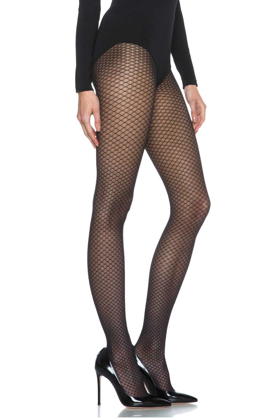 Image 3 of Wolford Iman Tights in Black